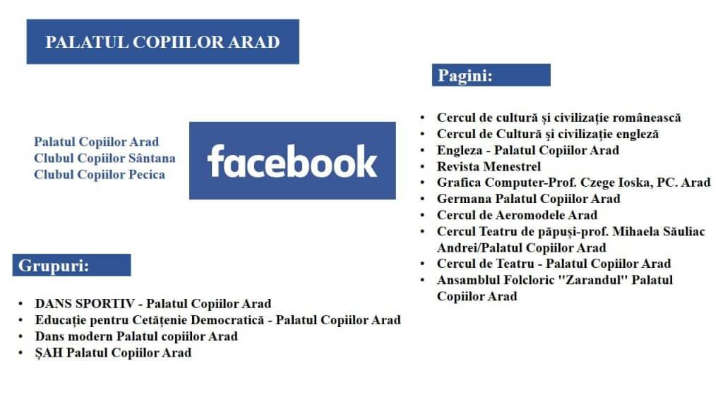 pagini si grupuri facebook